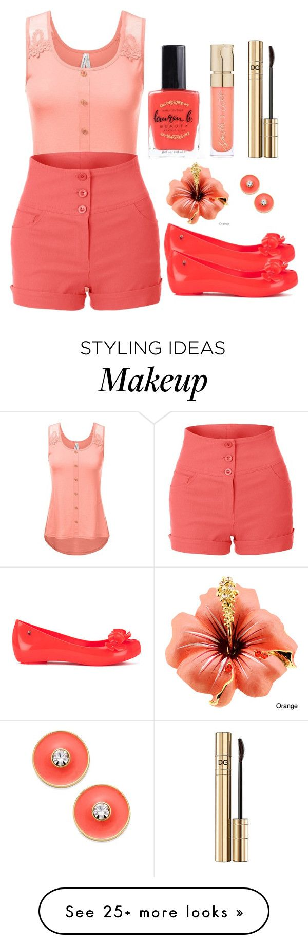 """Outfit #1194"" by ivanna1920 on Polyvore featuring Melissa, Lauren B. Beauty, Smith & Cult, Dolce&Gabbana and Kate Spade"