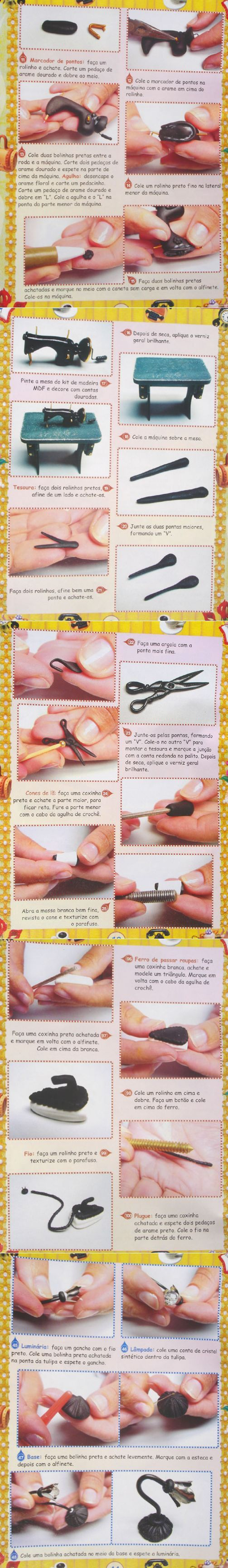 diy (illustrations) miniature vintage sewing machine for dollhouse or rumba