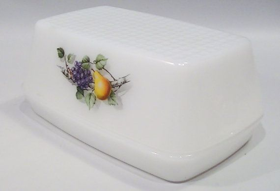Vintage Covered Butter Dish Arcopal France by Lifeinmommatone, $10.00