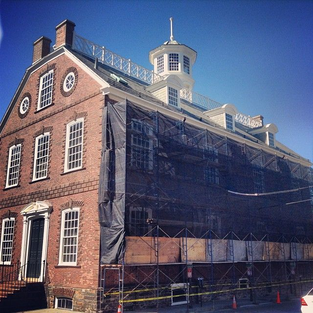 Have you noticed the  scaffolding at the Colony House  The  brownstone is  being. 19 best Newport  Colony House images on Pinterest   Newport