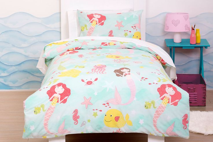 Mermaids Duvet Cover Set - Squiggles