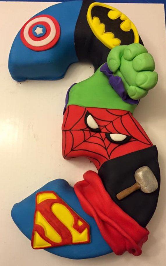 Pastel de superhéroes tercer pastel sexto pastel de por Chickedoll