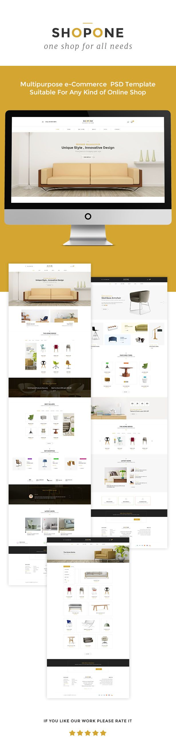 ShopONE - Furniture HTML Store • Download theme ➝…