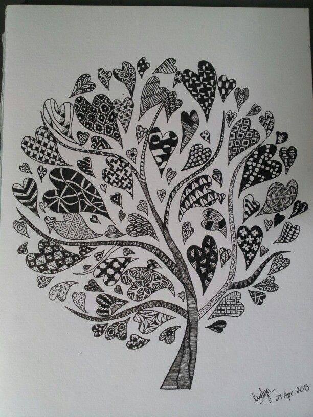 zentangle corazon - Buscar con Google