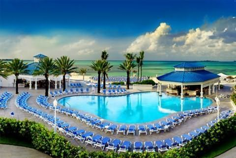 Cable Beach, Nassau - I used to sneak into this hotel to swim in this pool.  Good times!