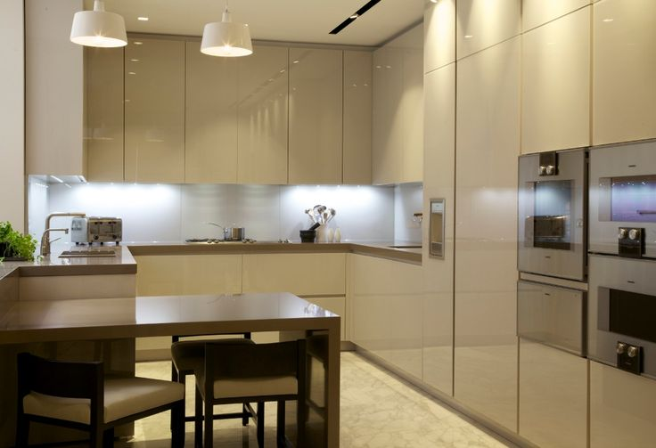 Clean Lines Define The Fully Equipped Kitchen House My