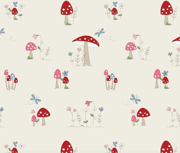'Toadstool', Fryett's Fabrics