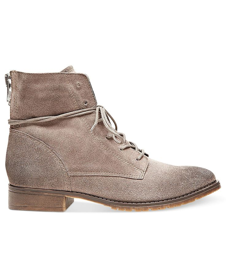 Steve Madden Women's Boots, Rawling Booties: Grey Suede - Boots - Shoes -  Macy's