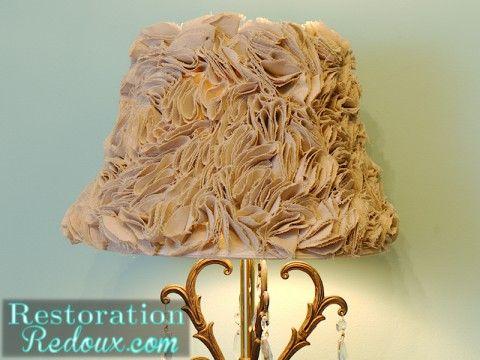 Ruffled Lamp Shade Tutorial http://www.restorationredoux.com/?p=4235