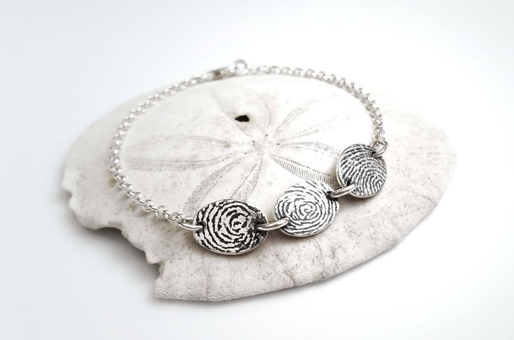 Barely There Fingerprint Bracelet - Customizable by RebeccaGeoffrey on Etsy