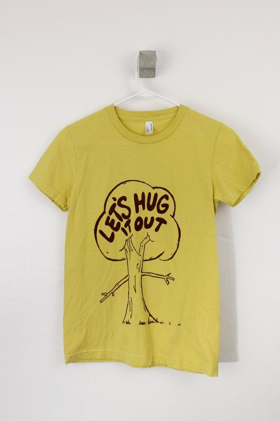 Let's Hug it Out Women's tshirt organic cotton screen printed on Etsy, ...