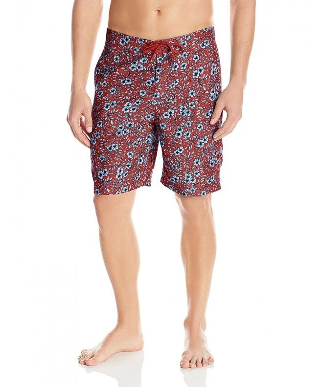 c1427e482b8 Men s Elastic Waist Swim Trunk Classic Fit - Red Country Hibiscus -  CU12N32R1HI