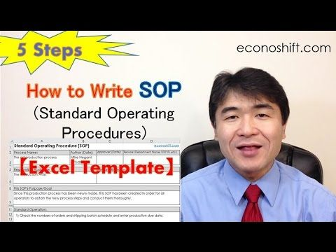 SOP 5 Steps: How to Write Standard Operating Procedures【Excel Template Practice】 (Lean Six Sigma) - YouTube