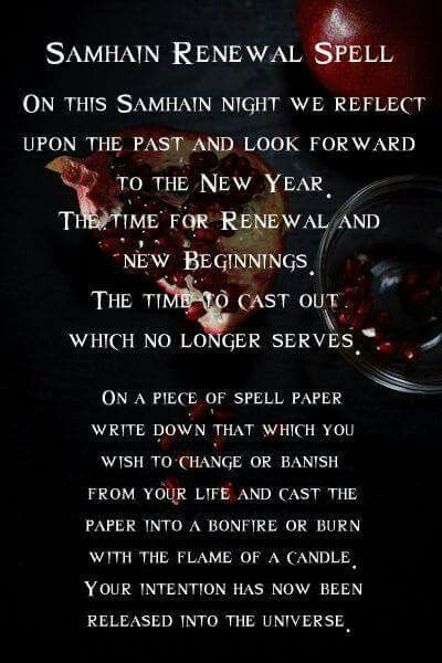 The Wheel of the Year | Samhain - Spellwork - Renewal Spell