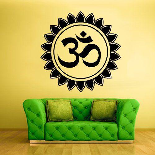 Wall Decal Vinyl Sticker Decals Hindu Om Circle Yoga Symbol Buddha Indian (Z1368) StickersForLife http://www.amazon.com/dp/B00E8WAWPY/ref=cm_sw_r_pi_dp_y-Revb12QW5TZ