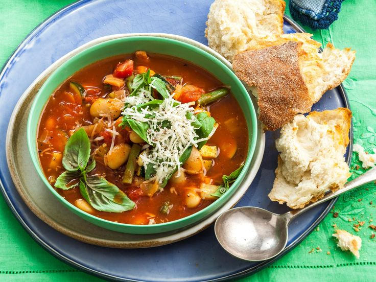 This classic Italian minestrone soup recipe is a warming, economical meal for chilly winter nights. Serve with plenty of crusty bread and parmesan cheese