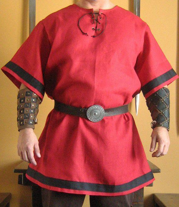 Camisa medieval celta Viking Deluxe por MorganasCollection en Etsy