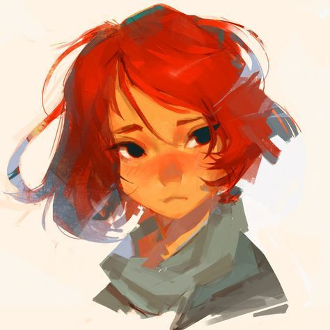 Beautiful red head painting
