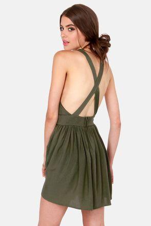 Sexy Green Dress - Short Dress - Backless Dress - $40.00 by LuLu*s
