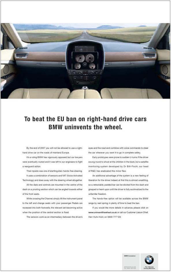 BMW uninvents the wheel Advert