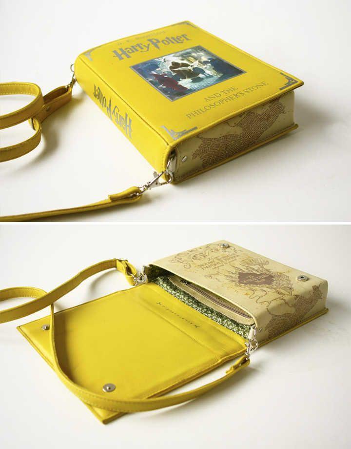 Bolsas em formato de livro para quem ama ler                                                                                                                                                                                 Mais