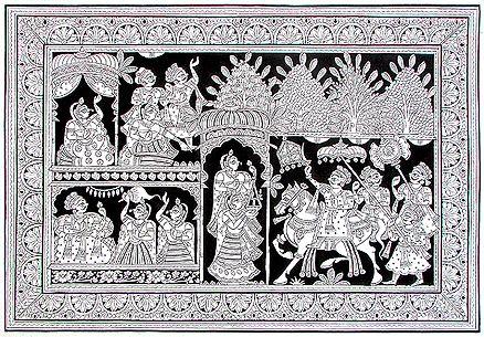 Marriage @ Phad Chitra : Soul of Rajasthan | #StoryLTD #Indian #art #Rajasthan I Available at Storyltd.com
