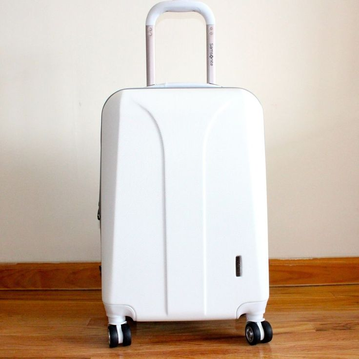 SAMSONITE LUGGAGE WHITE COLOR  #SAMSONITE