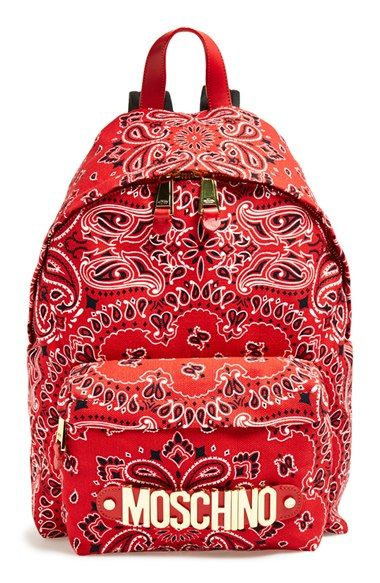 Moschino Bandana Print Canvas Backpack available at #Nordstrom