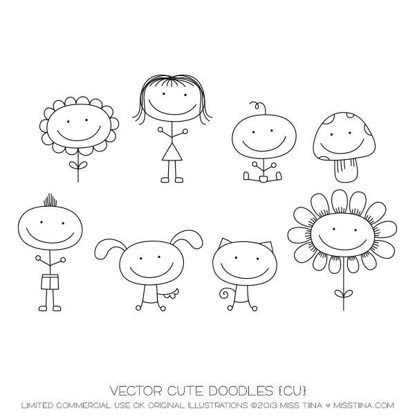 Vector Cute Doodles {CU}