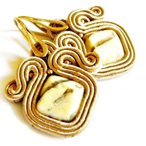 Soutache earrings, hand made by Manufaktura Charlie