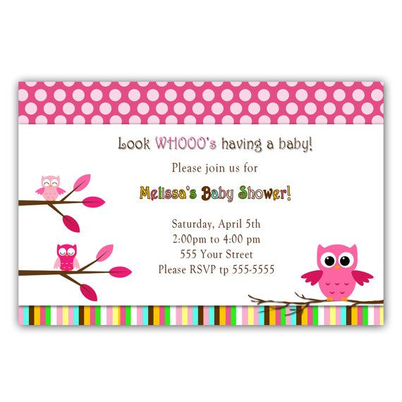 43 best owl party ideas birthday baby shower images on pinterest baby shower invitation pink owl girl also birthday party invite pastel colors stripes printable personalized filmwisefo
