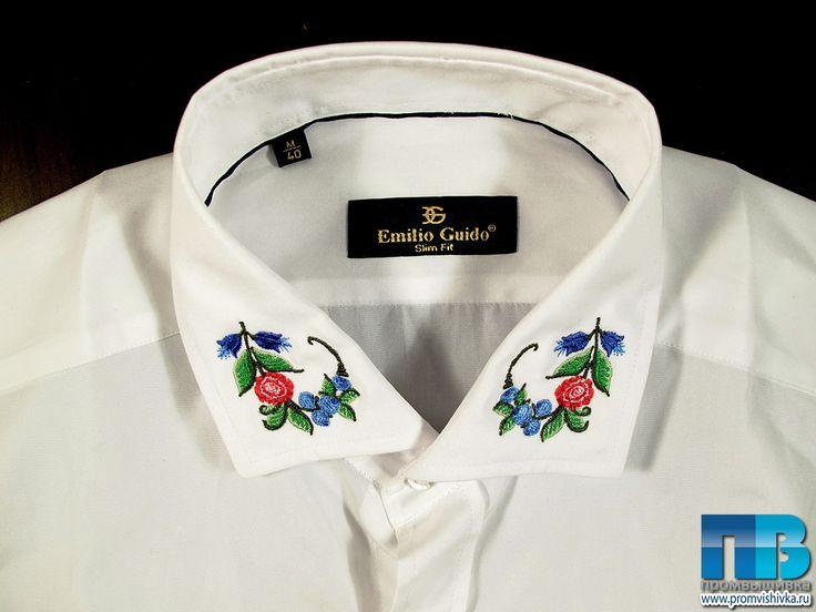 """Русские рубашки с вышивкой """"Цветы"""""""