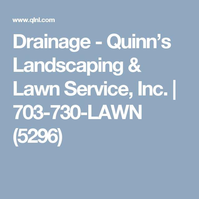Drainage - Quinn's Landscaping & Lawn Service, Inc. | 703-730-LAWN (5296)