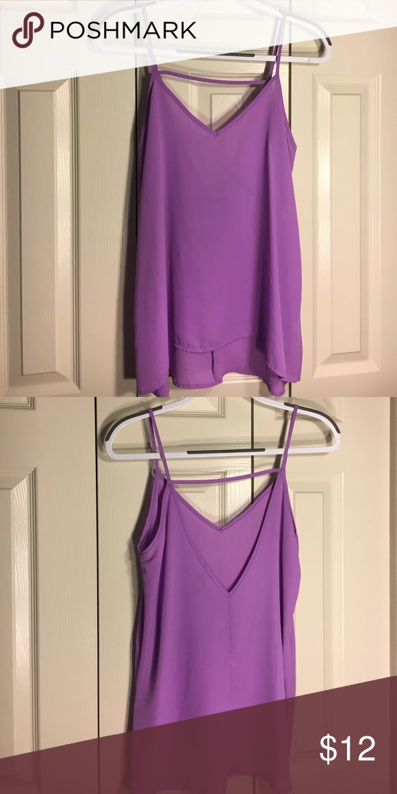 Purple tank top Purple strappy v-neck tank top, with open V in the back, light material Lulu's Tops Tank Tops