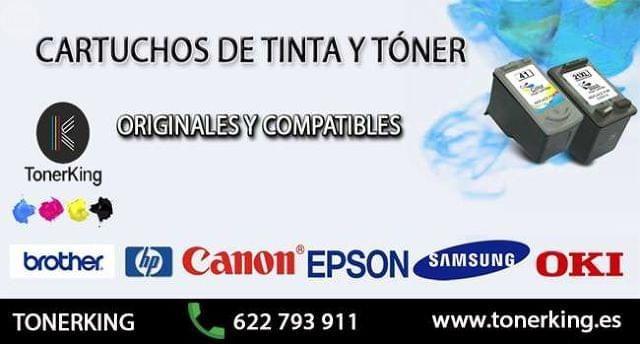 . Tonerking. Tienda online de Toner y cartuchos de tinta, compatibles y originales. Impresoras Brothers, HP, Epson, Canon, Samsung, Oki. http://www.tonerking.es/