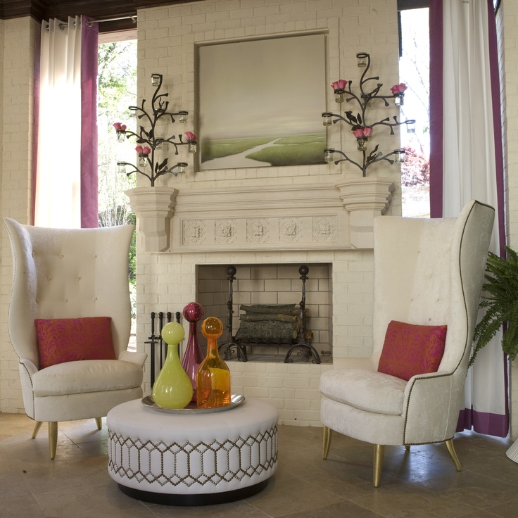 Barbara Heath Outdoor Space at 2011 Symphony Showhouse. Gudinna Chairs and  ottoman made by Bjork