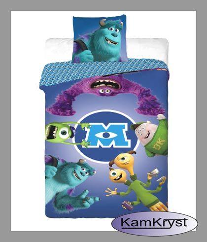 Kids bedding Monsters and Company | Dziecięca pościel Potwory i Spółka w rozmiarze 140x200 w sklepie KamKryst