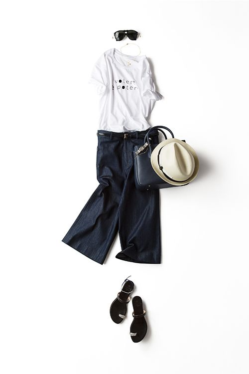 Kyoko Kikuchi's Closet | ロゴTを エレガントでモードな気分で着る