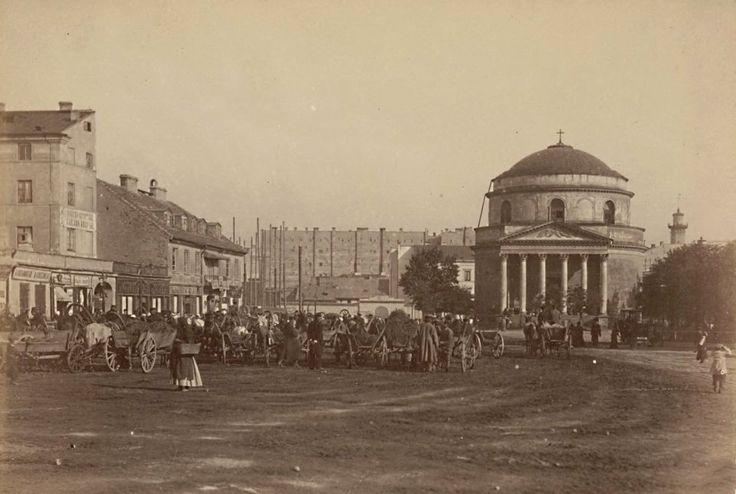 Prawdopodobnie to Plac Trzech Krzyży. Rok 1870