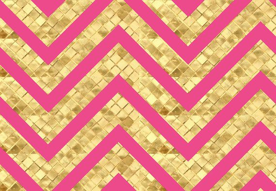 magenta and textured gold chevron wallpaper pink by