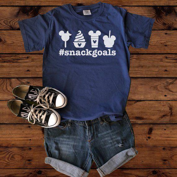 Disney Snack Goals Comfort Colors Disney Clothing Children