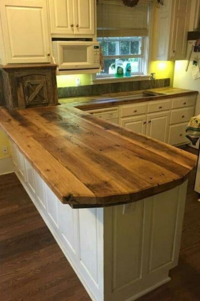 Kitchen Countertop Ideas Incredible Cheap Solid Materials In 2020 Diy Kitchen Countertops Home Kitchens Rustic Kitchen