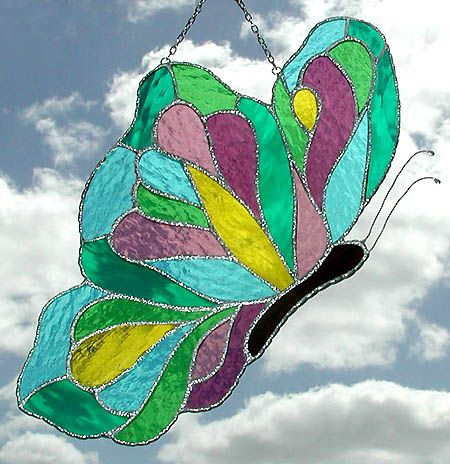 118 best images about suncatchers on pinterest sun for Butterfly stained glass craft
