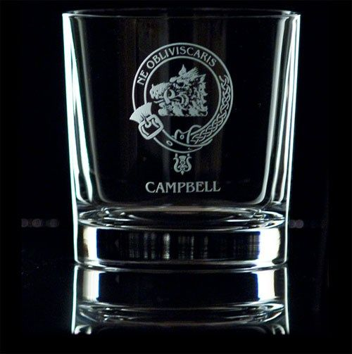 Clan and Family Crested Crystal Whisky Tumbler