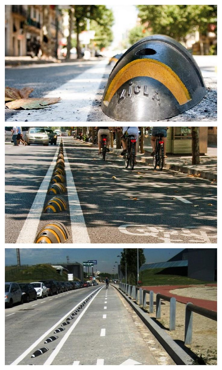 Armadillo bike lane divider by Cyclehoop. Click image for link to full description and visit the slowottawa.ca boards >> https://www.pinterest.com/slowottawa/