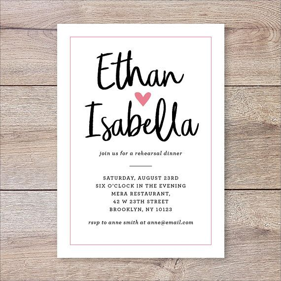 Casual Rehearsal Dinner Invitation The Night Before Invitation Pre Wedding Party In Wedding Party Invites Rehearsal Invitations Wedding Rehearsal Invitations