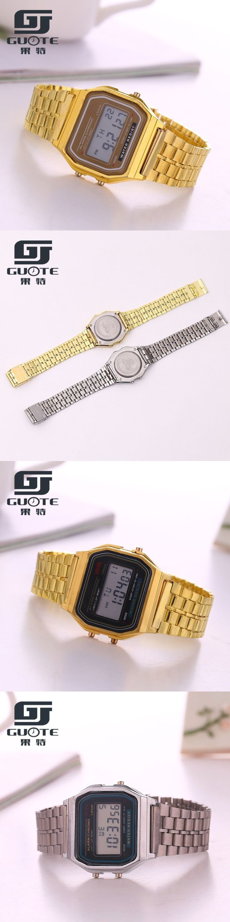 2017New fashion design LED Watch Multifunction Life Waterproof Watch For Men Women Cheap Electronic Digital watches clock silver