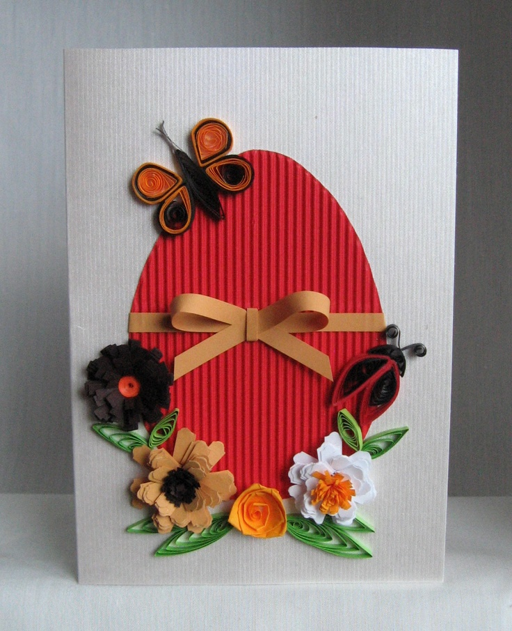 Quilling M handmade crafts and hobbies: Quilling Easter Cards (4) - Pelicitari de Paste