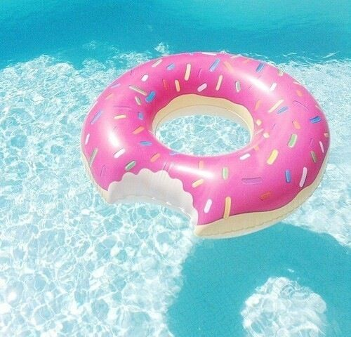 Donut Pool Float from Big Mouth Productions  (with sprinkles) as a great way to make your summer sweet!