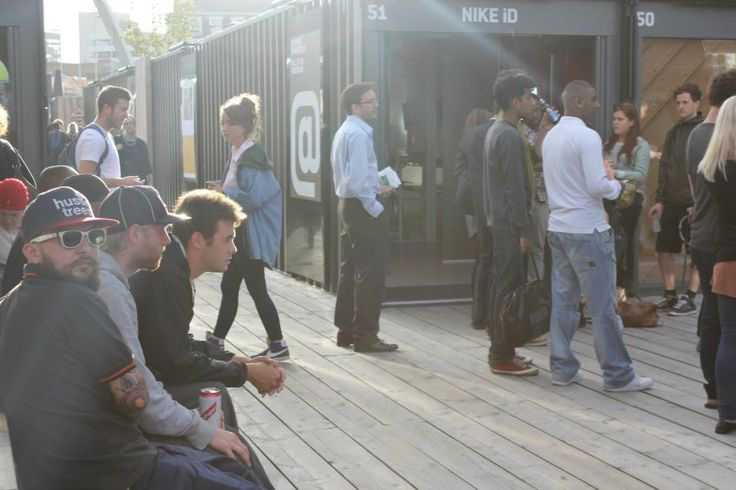 Boxpark, pop-up mall in Shoreditch - East London